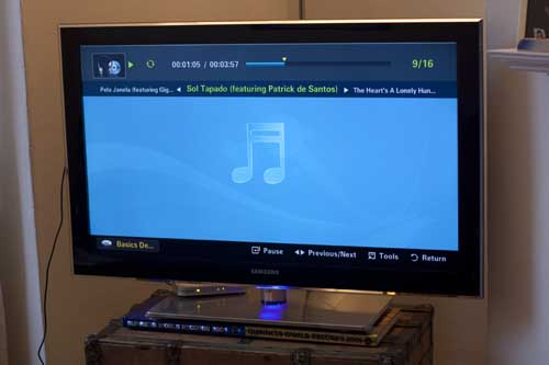 Samsung TV Playing mp3s from a 1TB Hard Drive
